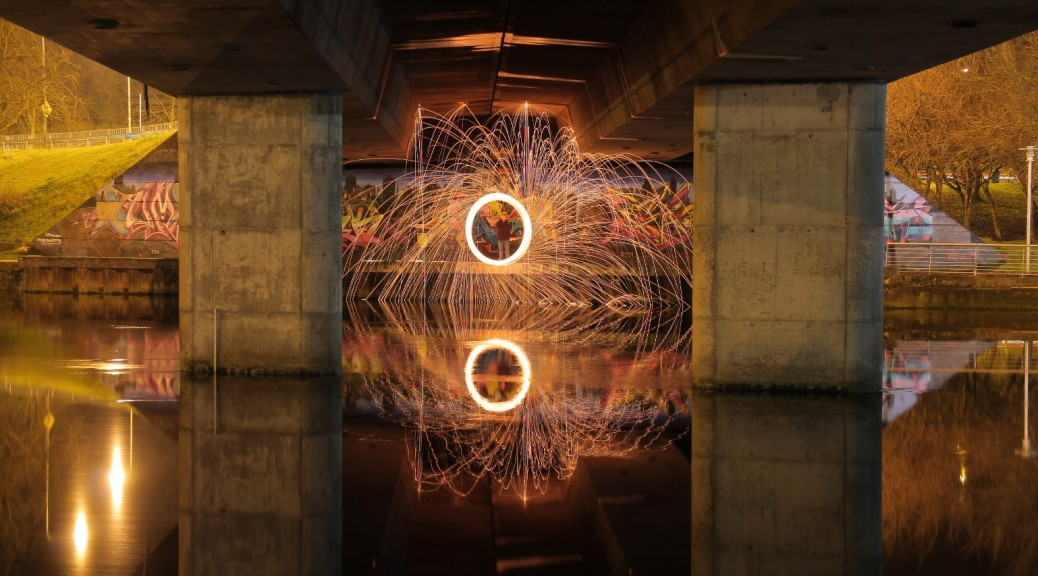 Damian Smith - Drogheda Photographic Society, Steel wool, Bridge of Peace, Drogheda