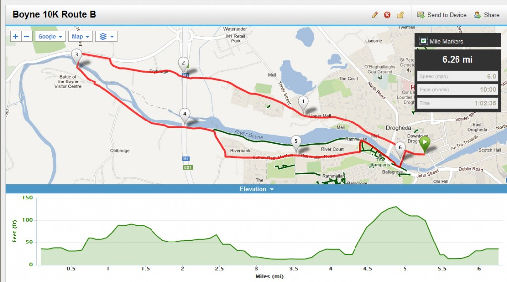 Boyne 10K Route Map