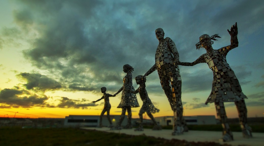 New family statue in Duleek from a recent visit by the drogheda photographic society